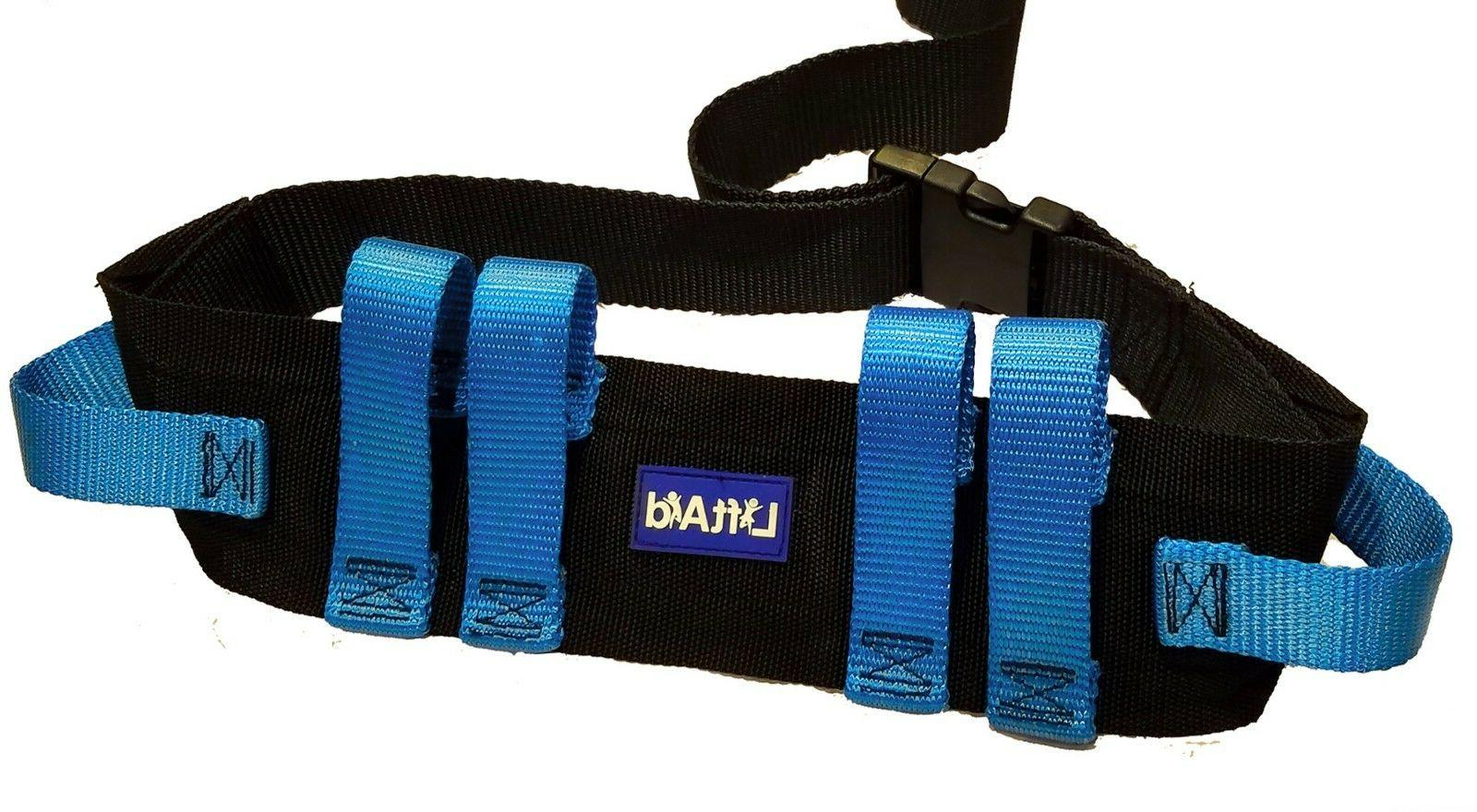 Gait Belt for Transfer & Walking with 6 Hand Grips Quick-Rel