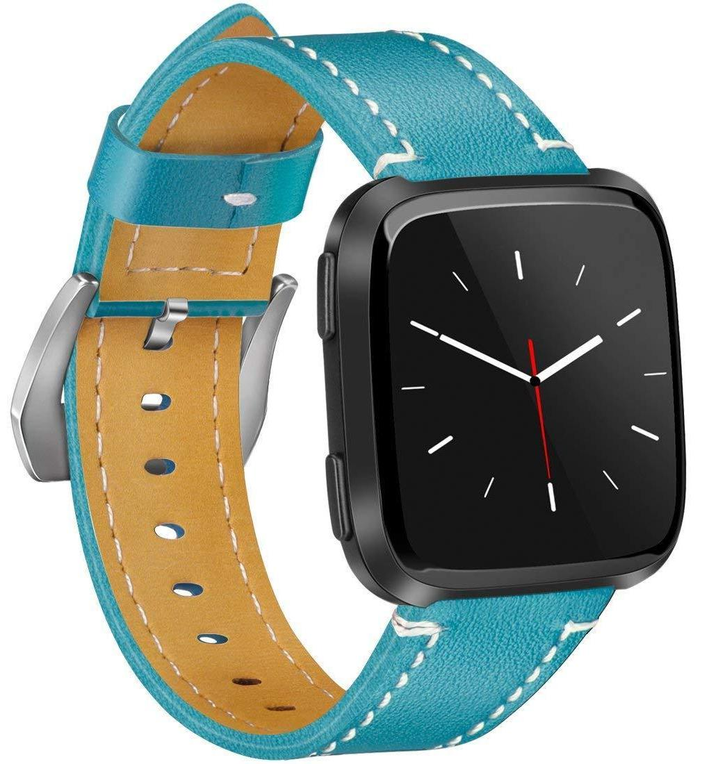 Genuine Leather Band with Stainless Buckle for Fitbit