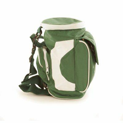 Wald Imports Green and White Canvas Golf Bag Cooler