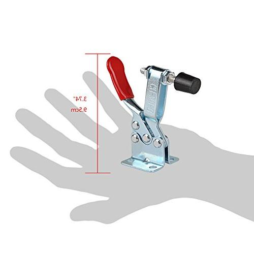 E-TING 4Pcs Hand Toggle Clamp Red Horizontal Quick