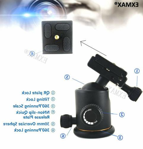 EXMAX Heavy Photography Tripod Ball Head Quick Release DSLR