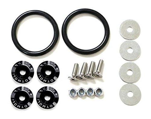 iJDMTOY Black Finish JDM Quick Release Fasteners For Car Bum