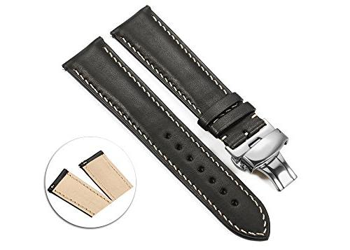 iStrap 18mm Calf Leather Watch Strap Quick Release Band Depl