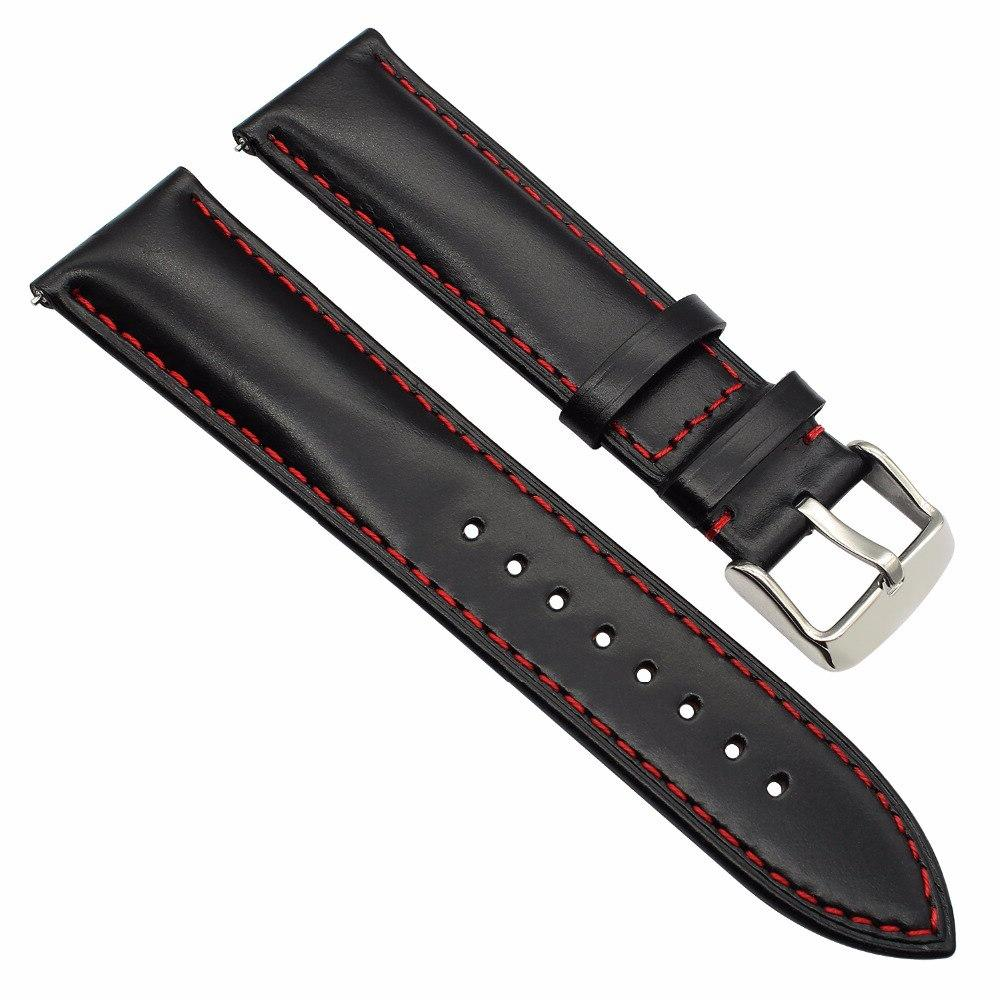 Italy Genuine Calf Leather Watchband for Garmin <font><b>3</b></font> <font><b>Quick</b></font> <font><b>Release</b></font> Band Stainless Steel Strap