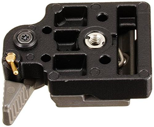 Manfrotto 323 Connect Adapter with Quick Release Plate Replaces 3299-Black and ZAYKiR Quick for Connect Adapter
