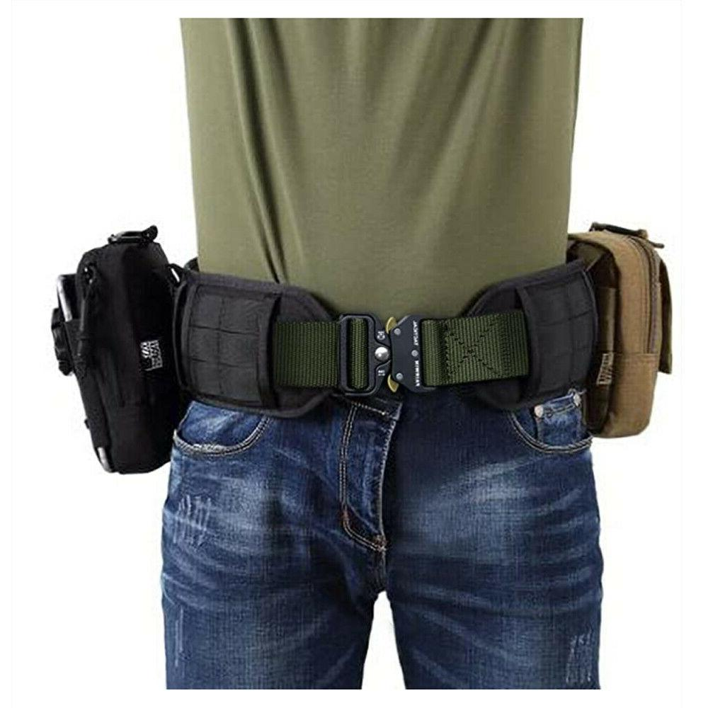 MEN Casual Military Belt Tactical Army Quick Release