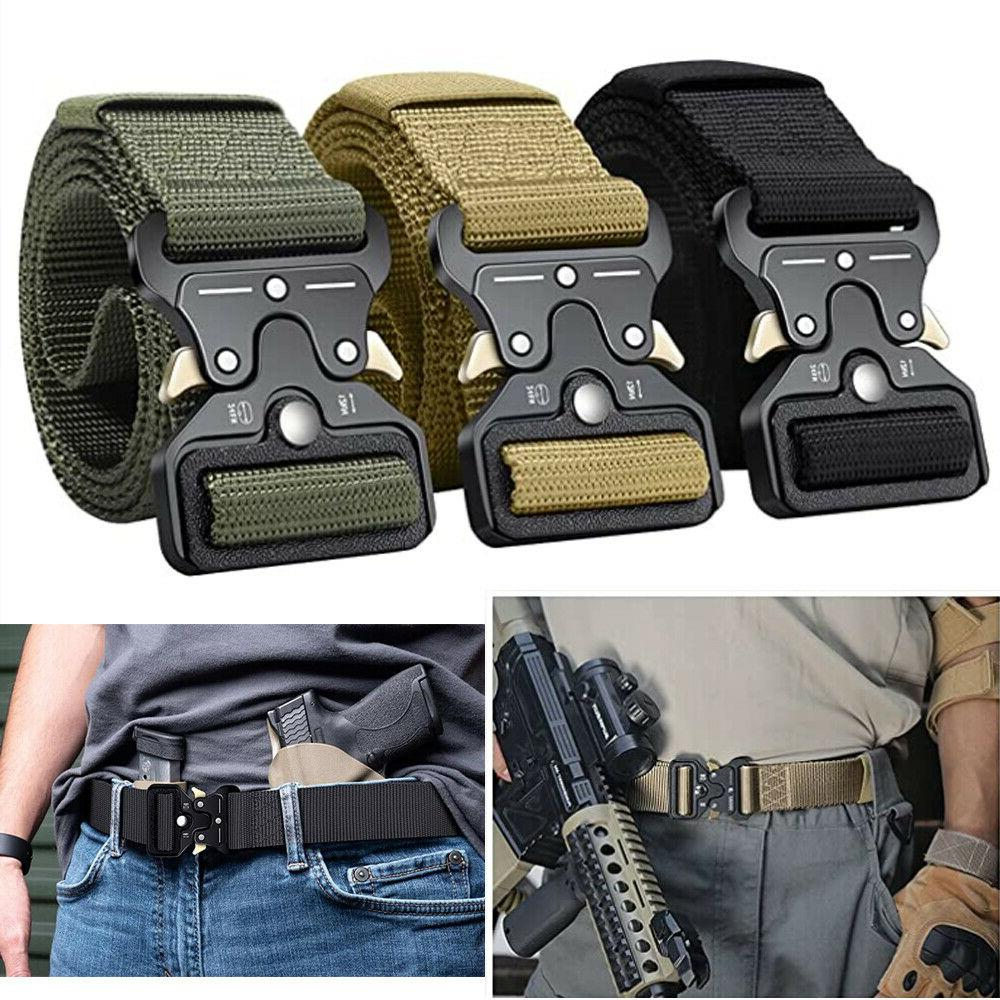 men casual military belt tactical army adjustable