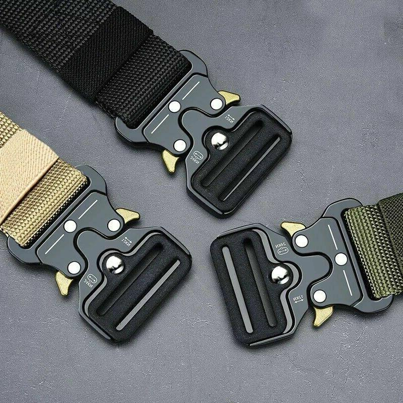 MEN Casual Military Belt Tactical Adjustable Police Quick
