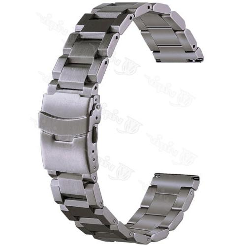 Mens Stainless Watch 22 18mm Quick Double Lock