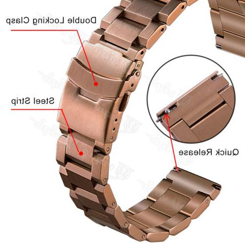 Mens Solid Watch 18mm Quick Strap Double Lock