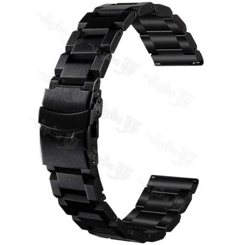 Mens Stainless Watch 18mm Quick Release Strap Double