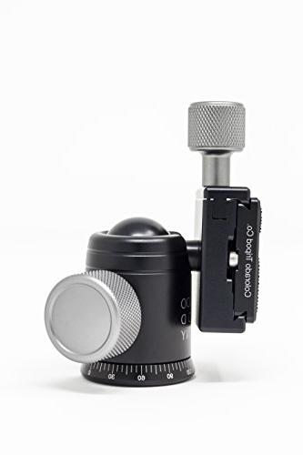 Mini with 360 Degree Rotating Swivel Level - Arca Clamp with Inch Plate Compact Ball Slider, Camera - Max