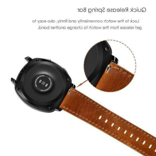Quick Release Watch 22mm Brown Strap