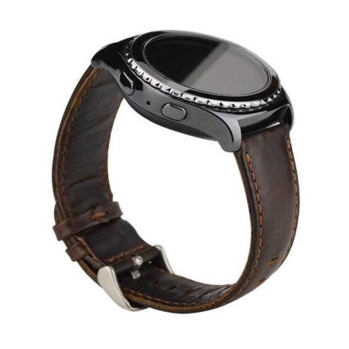 Quick Release Genuine Leather Watch 22mm Strap