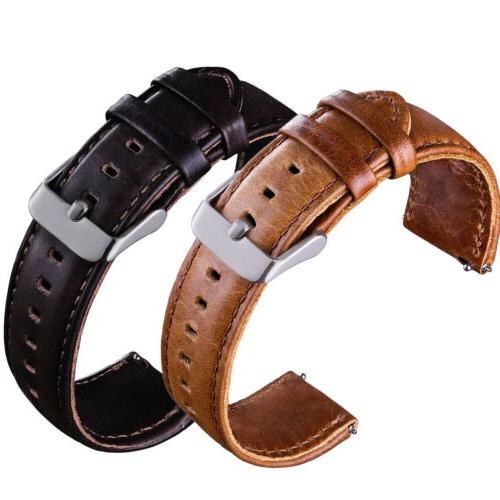 quick release leather watch band wrist strap