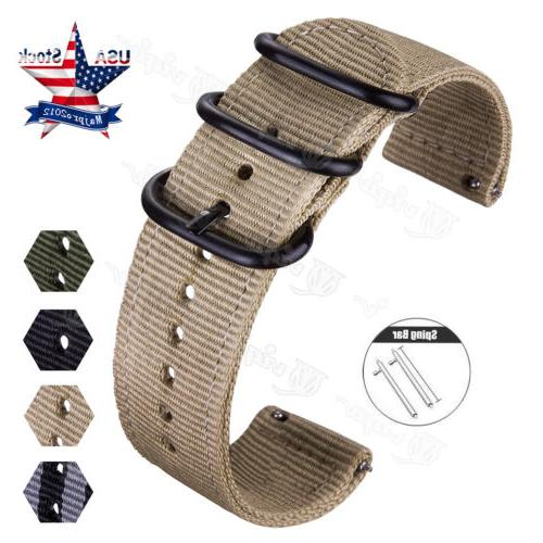 Quick Nylon Canvas Fabric Band For Samsung Watch