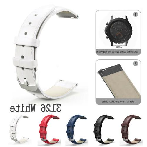 Quick Loop Band Retro Leather Strap 18/20/22mm