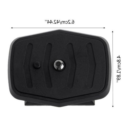 Quick Plate Monopod Head Screw Mount For Sony New