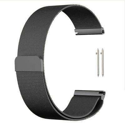 quick release stainless steel black melanese loop