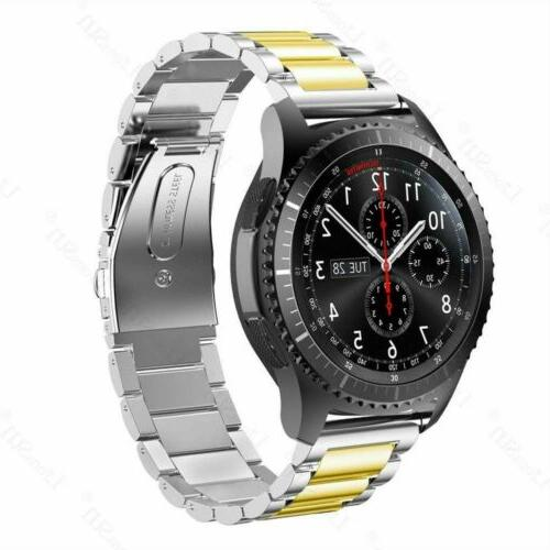 Quick Release Steel Link Watch Band For Galaxy