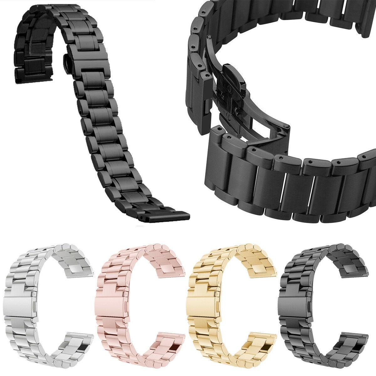 quick release stainless steel link bracelet watch