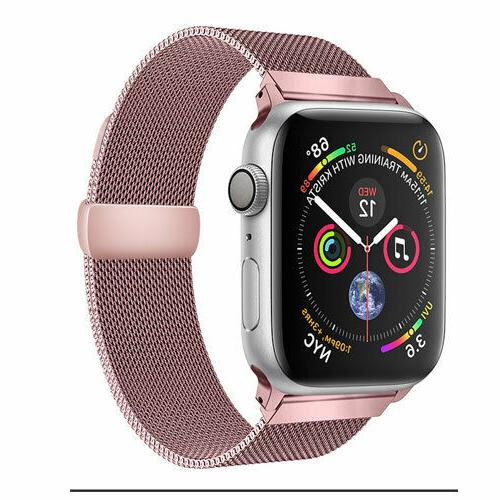 Quick Release Stainless Milanese Loop Apple Watch Band 4, 3, 2,