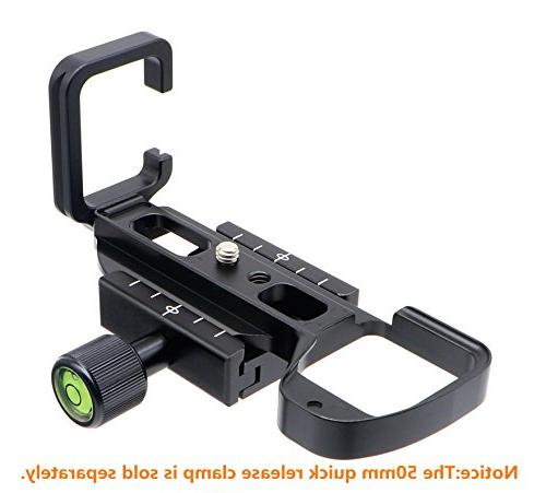 """HITHUT Quick Plate L-Shaped Bracket Grip with 1/4"""" and for A6500"""