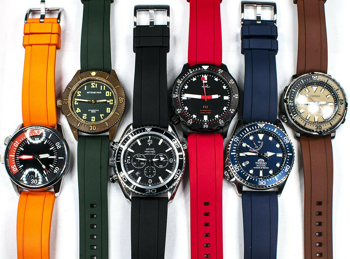 real rubber quick release dive watch strap