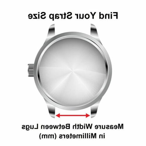 18 20 22mm Quick Release Retro Leather Strap Smart Watch