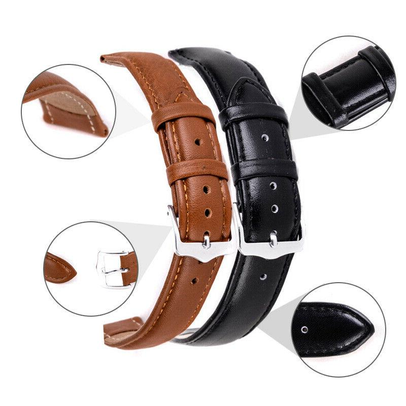 soft genuine leather quick release wrist watch