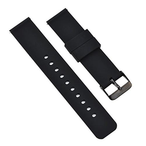 MLQSS Soft Silicone Pins Color & Width Watch w/Adjustable Metal