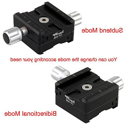 Haoge 50mm Subtend Bidirectional Dual Release with 60mm Plate for RRS Benro Rail Plate Nodal Slide