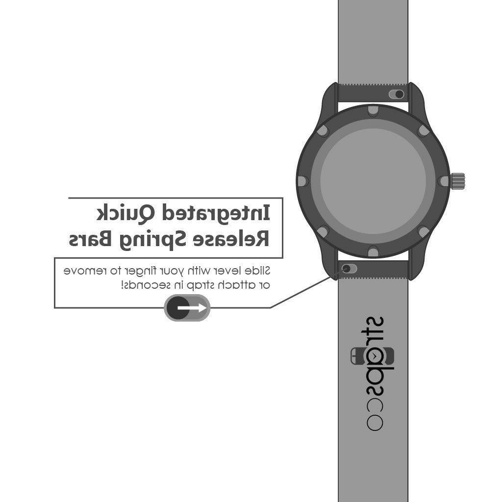 StrapsCo Suede Leather Band Quick Release