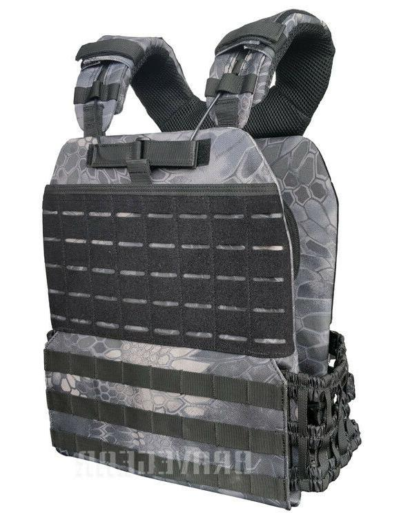 tactical adjustable weight vest plate carrier molle