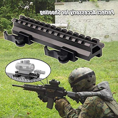 Tactical Picatinny Rails Dual 90 and 45 degree Detach 13-Slot Profile for Red Dot Scope Optics