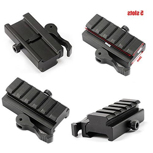 wipboten Tactical Picatinny Riser Mount 5-Slot with for Red Dots Scopes Optics