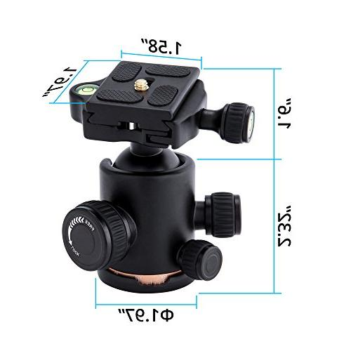 "Tripod 360 Degrees Sony Nikon Tripod and Load 1/4"" Adapters Quick Release Plate"