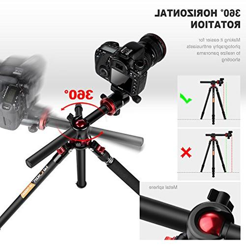 K&F Concept TM2534T Camera Tripod 66 Portable Magnesium 4 with 360 Ball Head Quick Plate Compatible Sony DSLR