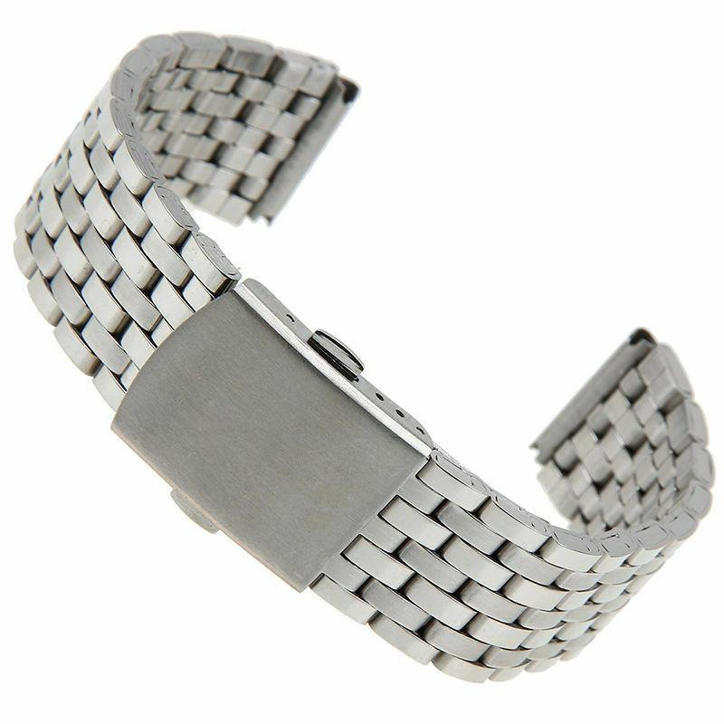 Classic Watch Band Stainless Steel Quick Release Strap 16/18
