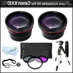 58mm Lens Kit For Canon XA10 HD Professional Camcorder Inclu
