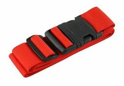 Lewis N Clark Quick Release Luggage Belt Red