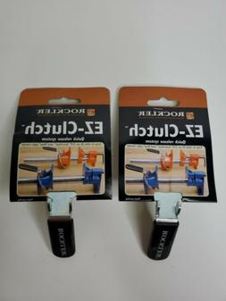 Lot of 2 ROCKLER EZ-CLUTCH QUICK RELEASE SYSTEM clamp pipe c