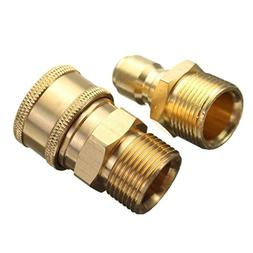 MagiDeal 1 Pair M22 Quick Release Pressure Washer Adapter Co