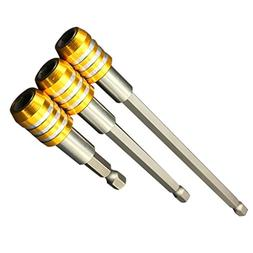 MagiDeal 3pc Magnetic Extension Screwdriver Drill Quick Rele