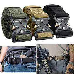 MEN Casual Military Belt Tactical Army Adjustable Police Qui