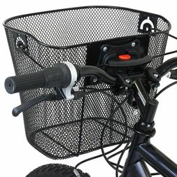 Mesh Bike Baskets Quick Release Metals Bicycle Front Foldabl