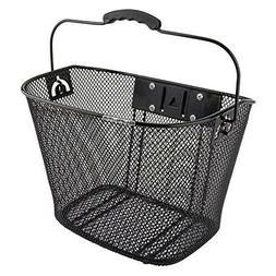 SUNLITE MESH QUICK RELEASE BLACK FRONT BICYCLE BASKET 90047