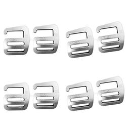 MagiDeal 8pc Metal G Hook Webbing Buckle Strong Quick Releas
