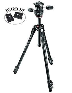 Manfrotto MK290XTC3-3WUS 290 Xtra Carbon 3-Way Head Kit  and