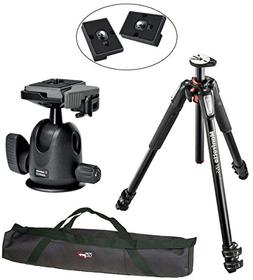 Manfrotto MT055XPRO3/496RC2 Pro Tripod Head Kit and 2 Replac